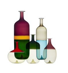 The newly opening exhibition at the Murano Glass Museum in Venice presents the work of one of Finland's most prominent designers, Tapio Wirkkala Ceramic Painting, Ceramic Artists, Bottle Design, Glass Design, Vases Decor, Art Decor, Grassi Museum, Murano Glass Vase, Glass Ceramic