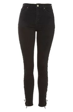 Topshop Topshop Jamie Side Lace-Up Skinny Jeans available at #Nordstrom