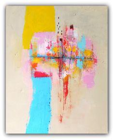 "Abstract Painting, Modern Wall Art, Contemporary wall art , Abstract Art on Canvas, Original Painting- ""Memory"" by Christina Romeo"