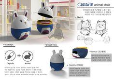 어린이를 위한 의자 디자인_capsule chair_panel Industrial Design Portfolio, Portfolio Design, Publication Design, Panel, Red Dots, Layout Design, Cool Designs, Presentation, Design Inspiration