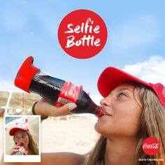 """Coke has launched """"selfie bottle"""" that takes a snap while you sip. Tech News, Technology, Coca Cola, Coke, Selfie Selfies, Gadgets, Non Alcoholic Drinks, Geek Gifts, Bottle Design, Hot Sauce Bottles, Soda Bottles, How To Take Photos, Spray Bottle"""