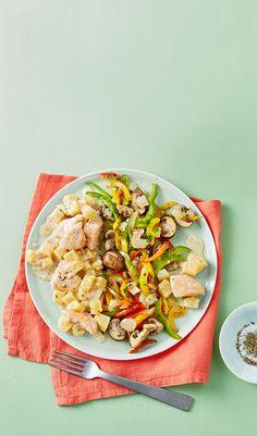 Leichte Kartoffel-Huhn-Pfanne