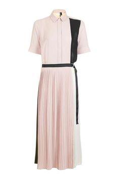 Pleated Midi Shirt Dress - Dresses - Clothing - Topshop USA
