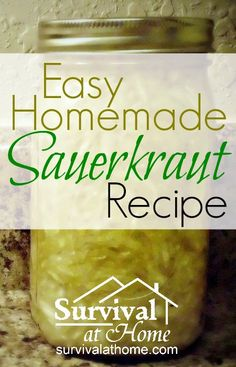 """Easy Homemade Sauerkraut Recipe » This super easy homemade sauerkraut recipe will make you wonder why you never tried making it before. """"Repinned by Keva xo""""."""