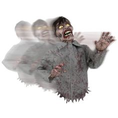 Bump And Go Zombie. You won't know which way to run with thisBump And Go Zombie bumping around! TheBump And Go Zombie features Bump and Go Zombie. House Of Hauntz TM. Halloween Zombie, Retro Halloween, Animated Halloween Decorations, Fairy Halloween Costumes, Theme Halloween, Halloween Ideas, Outdoor Halloween, Zombie Mask, Disneyland Halloween