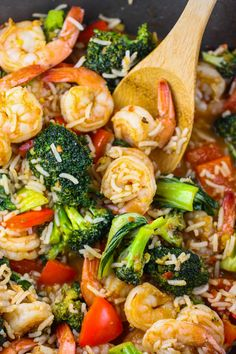 Spicy Thai Shrimp Skillet. A fabulously tasty {and #healthy!} weeknight meal.