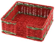 Boston International Woven Paper Lunch Napkin Caddy, 7.5-Inch by 2.5-Inch by 7.5-Inch, Red/Green Boston International http://www.amazon.com/dp/B00OFYSGKI/ref=cm_sw_r_pi_dp_2vdGwb1Z4PCNN