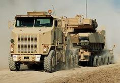 Oshkosh truck with Abrams