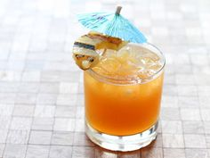 Sweet and Sour Mai Tai Ingredients 1 oz. Thai chile-infused dark rum (recipe below) 1 oz. sweet soy-infused white rum (recipe below) ½ oz. orgeat (homemade preferred) ½ oz. Midori Club soda 1. Combine all ingredients and shake. 2. Pour over ice into an old-fashioned glass and splash with club soda. 3. Garnish with a half-wheel of charred pineapple and a cocktail umbrella, of course.
