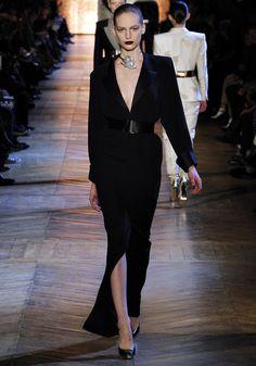 Yves Saint Laurent AW12 #FashionWeek #gothictrend #blackischic