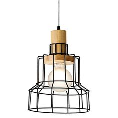 Announce an industrial vibe in your space with the metal cage design of the Heming Pendant Light from Rouge Living.