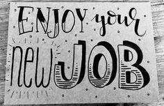 Nieuwe baan | New Job | Handlettering Qreations