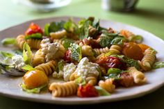 Pasta with cherry tomatoes