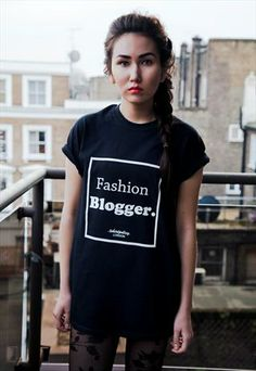 Fashion Blogger T-Shirt Black from T-Shirt Policy London