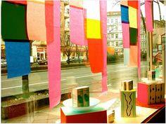 German window display - color blocked panels