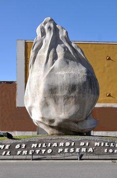 Emilio Isgrò, Seme d'Arancia, 1998 - Barcellona Pozzo di Gotto (Messina) | Artribune