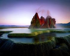 Check out Fly Geyser in Nevada and Mount Roraima South America (Brazil/Venezuela/Guyana)