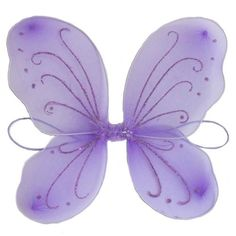 "Gorgeous Fairy Wings!  Perfect for dress up, butterfly and fairy birthday attire. Dimensions:  13"" x 15 1/2"" Sold individually."