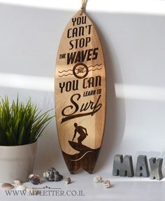 Surfboard wall decor Decorative wooden surfboard original design Made of playwood with graphic engraving Suitable for mounting on a wall or shelf / furniture Height: 17 inch cm) Width: inch cm) Thickness: inch cm) Surfboard Decor, Wooden Surfboard, Surf Decor, Nautical Wall Decor, Seashore Decor, Holiday Boutique, Shelf Furniture, Remo, Wall Prints