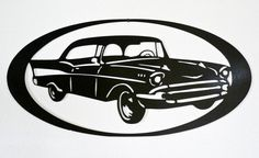 1957 Chevy  Wall Art  Metal Art  Home Decor  Car Art
