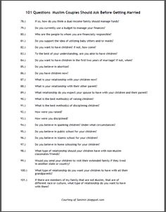 Live.. Learn.. Laugh: 101 Questions for couples to ask before marriage pt 4