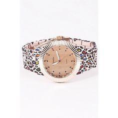"Was $32 Cheetah Printed Watch * Cheetah Printed Fashion Watch  * 1.75 x 1.75"" approx. Uber Chic Accessories"