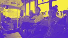 bus with spotify duotone effect