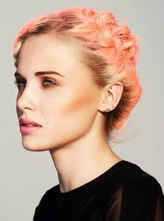 Achieve this look in salon with LUMINART 's creative formula 'Perfect Peach' 15g 9.8 Wild Peach Blonde + 2g Copper con