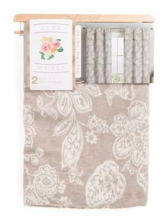 37x84 Chenille Textured Floral Set Of 2 Curtains - Curtains - T.J.Maxx