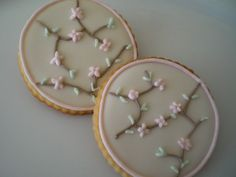 cherry blossom sugar cookie pictures | Cherry Blossom Cookies