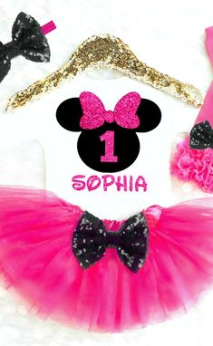 Minnie Mouse Birthday Outfit, Minnie Mouse 1st Birthday Outfit, Pink and Black Minnie Mouse First Birthday Outfit, Minnie Mouse Birthday Onesie, Minnie Mouse Birthday Shirt Minnie Mouse 2nd Birthday Outfit, Minnie Mouse 3rd Birthday Outfit, Minnie Mouse 4th Birthday Outfit
