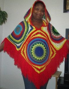 Pattern to create a Vintage Poncho - copyright All rights reserved. You may sell any items made from this pattern; but you may not SELL, COPY, or REPRODUCE this pattern in any form. Hooded Poncho Pattern, Crochet Poncho Patterns, Crochet Shawls And Wraps, Crochet Scarves, Crochet Clothes, Crocheting Patterns, Free Crochet, Knit Crochet, Knit Wrap