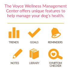 Manage your dog's health with Voyce.