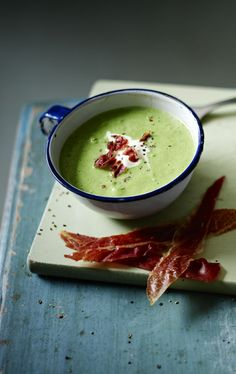 This soup is as easy as it gets and tastes wonderful when served with crisp Parma ham or bacon.