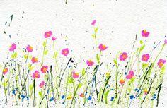 My Flower Journal   How to Make Splattered Paint Flower Cards - My Flower Journal