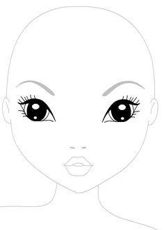 Coloriage top model activit s imprimer pinterest coloriage top mod les et dessins de - Coloriage top model visage ...