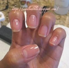 Prep nails for shellac manicure...Nail Babble...: My nails #5 & How to do your own professional manicure.