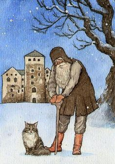 Murri and the Old Gnome of the Turku Castle by moussee at Deviant Art. I've been to Turku Castle. Scary Birds, Pet Mice, Gnomes, Painting & Drawing, Sculptures, Illustration Art, Old Things, Castle, Deviant Art