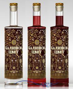 Калинов цвет - водка (1) Alcohol Bottles, Liquor Bottles, Glass Bottles, Perfume Bottles, Wine Labels, Bottle Labels, Russian Vodka, Strong Drinks, Message In A Bottle