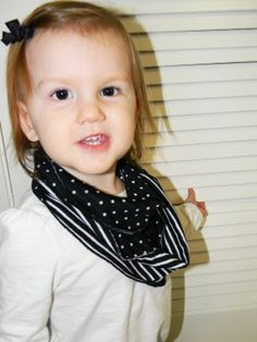 Toddler Girl Knit Reversible Black polka dots and by JessMDesigns, $7.00