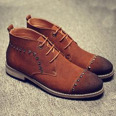 2016 Autumn Men's Boots Nubuck Western Ankle Boot For Man Rivest Genuine Leather Martin Boots Adult Fashion Flats Ankle Boots Men, Men's Boots, Martin Boots, Fashion Flats, Westerns, Oxford Shoes, Dress Shoes, Lace Up, Autumn