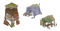 Defense Tower, Research Tent and Hunting Tent Art Assets for Box-O-Zombies Game. Check out our Kickstarter: http://kck.st/TAyKTf