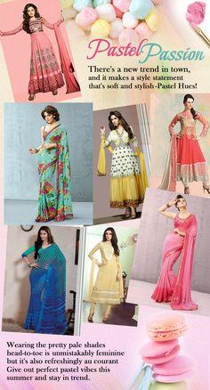 #Pastel #Trendalert  #Indianwear  Shop Here : www.cbazaar.com