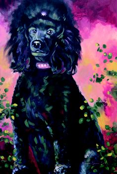 Standard Poodle Art.  Reproductions available.  www.karrenmgarces.com