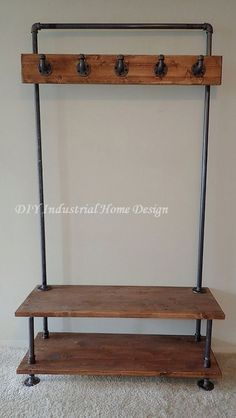Industrial Interior Design and Style 20 DIY Industrial Design Ideen Laminating Machine Diy Industrial Interior, Industrial Pipe Shelves, Industrial Interior Design, Industrial House, Industrial Furniture, Vintage Industrial, Reclaimed Furniture, Furniture Vintage, Modern Furniture
