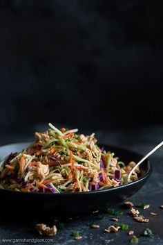 This sweet and salty, veggie filled Crunchy Asian Broccoli Slaw is the perfect side for Sunday dinner or your next barbecue party. Asian Broccoli Slaw, Broccoli Slaw Recipes, Potluck Salad, Bountiful Garden, Summer Recipes, Barbecue, Green Beans, Glaze, Side Dishes
