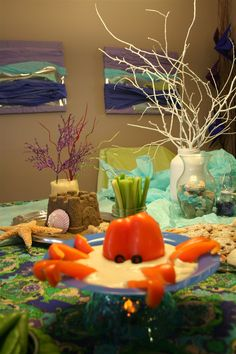 mermaid party ideas pictures   under the sea party table by denna's ideas