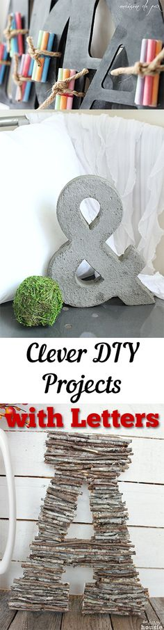Clever DIY Projects with Letters