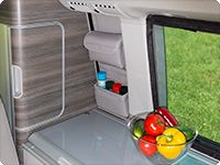 "UTILITY for the small kitchen window VW T6/T5 California Ocean, Coast, Comfortline, Trendline. Design: ""Leather Moonrock""."