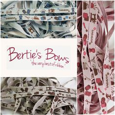 Bertie s Bows 10mm Handmade Theme Picture ribbon - Cut Lengths - 3 FOR 2